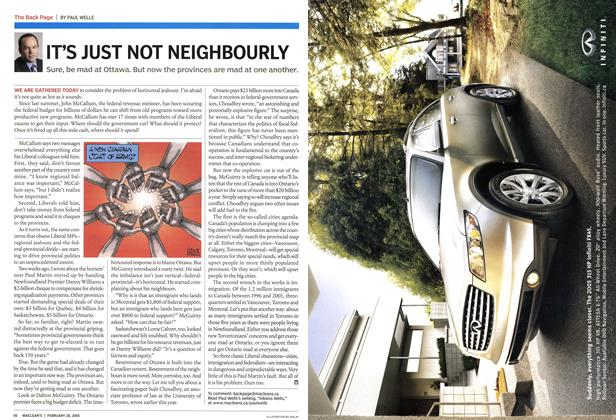 Article Preview: IT'S JUST NOT NEIGHBOURLY, February 28th 2005 | Maclean's