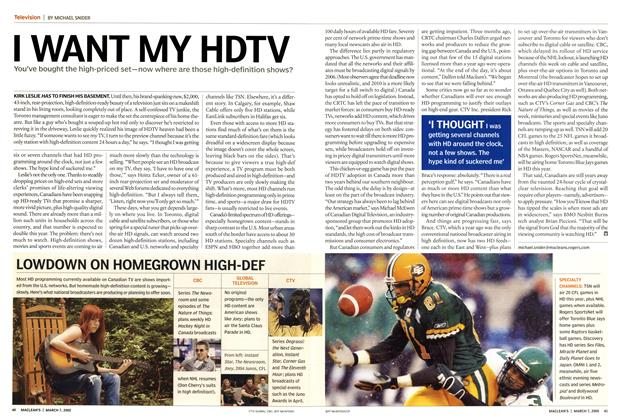 Article Preview: I WANT MY HDTV, March 7th 2005 | Maclean's