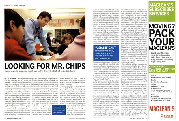 Article Preview: LOOKING FOR MR. CHIPS, March 2005 | Maclean's