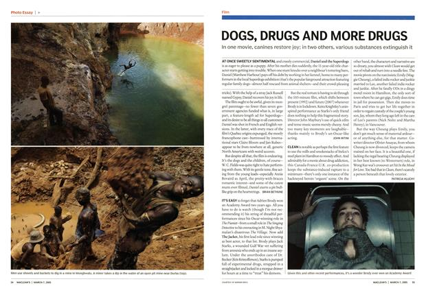 Article Preview: DOGS, DRUGS AND MORE DRUGS, March 7th 2005   Maclean's