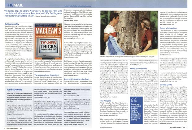 Article Preview: THE MAIL, March 7th 2005 | Maclean's