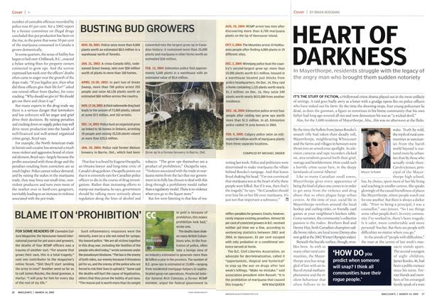 Article Preview: HEART OF DARKNESS, March 14th 2005 | Maclean's