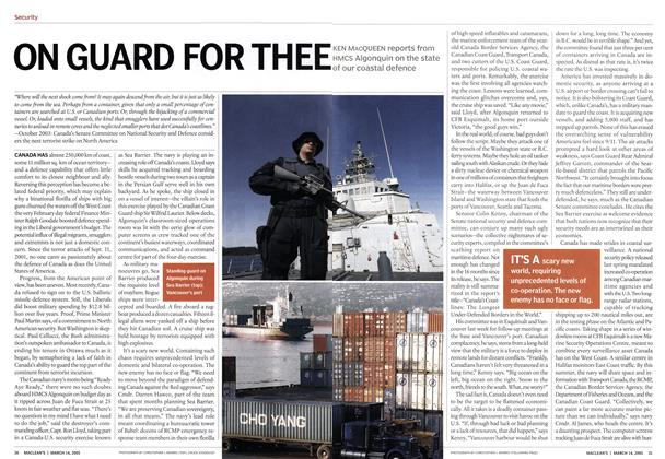 Article Preview: ON GUARD FOR THEE, March 2005 | Maclean's