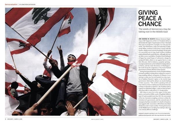 Article Preview: GIVING PEACE A CHANCE, March 14th 2005 | Maclean's