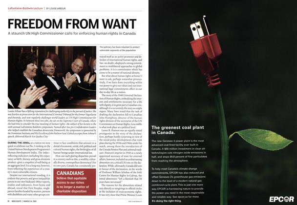 Article Preview: FREEDOM FROM WANT, March 14th 2005 | Maclean's