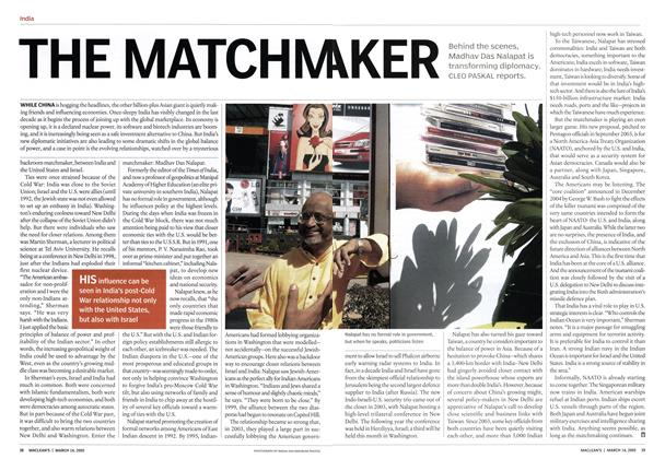 Article Preview: THE MATCHMAKER, March 14th 2005 | Maclean's