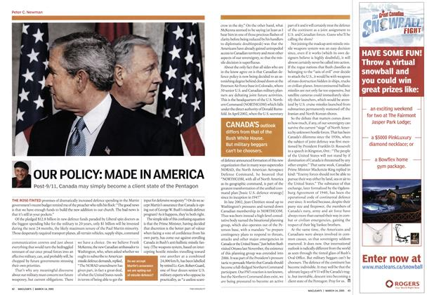Article Preview: OUR POLICY: MADE IN AMERICA, March 2005 | Maclean's