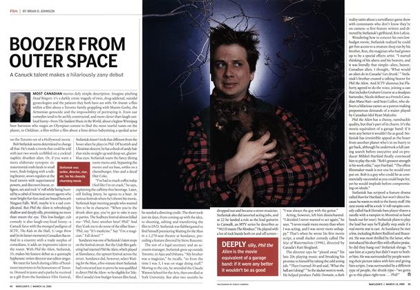 Article Preview: BOOZER FROM OUTER SPACE, March 14th 2005 | Maclean's