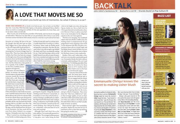 Article Preview: A LOVE THAT MOVES ME SO, March 14th 2005 | Maclean's
