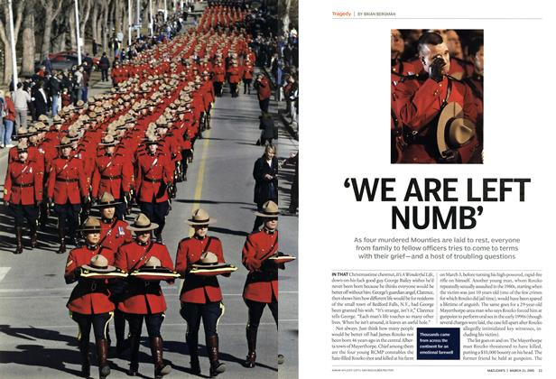 Article Preview: 'WE ARE LEFT NUMB', March 21st 2005 | Maclean's