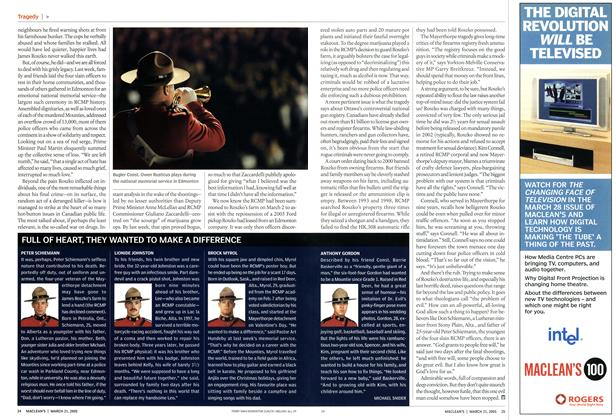 Article Preview: FULL OF HEART, THEY WANTED TO MAKE A DIFFERENCE, March 21st 2005 | Maclean's