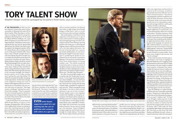 Article Preview: TORY TALENT SHOW, March 21st 2005 | Maclean's