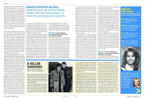 Article Preview: A KILLER VANISHES, March 21st 2005 | Maclean's