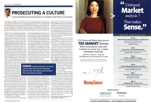 Article Preview: PROSECUTING A CULTURE, March 2005 | Maclean's