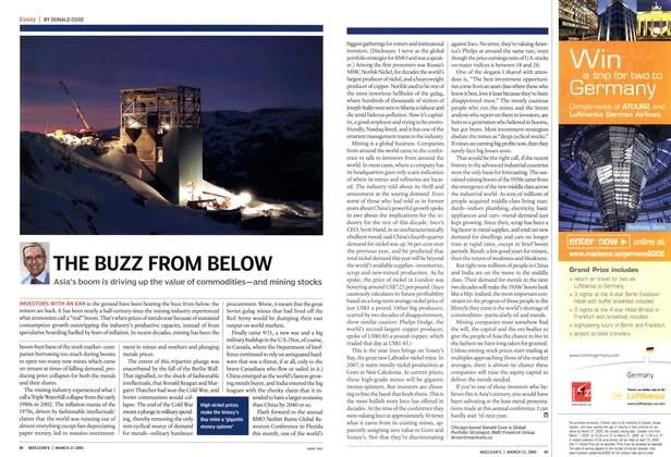 Article Preview: THE BUZZ FROM BELOW, March 21st 2005 | Maclean's