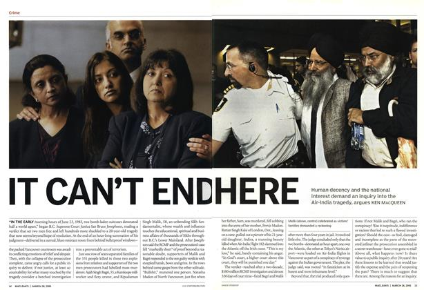 Article Preview: IT CAN'T END HERE, March 28th 2005 | Maclean's
