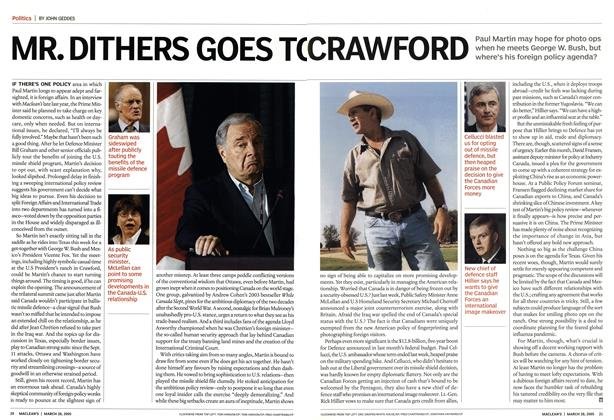Article Preview: MR. DITHERS GOES TO CRAWFORD, March 28th 2005 | Maclean's