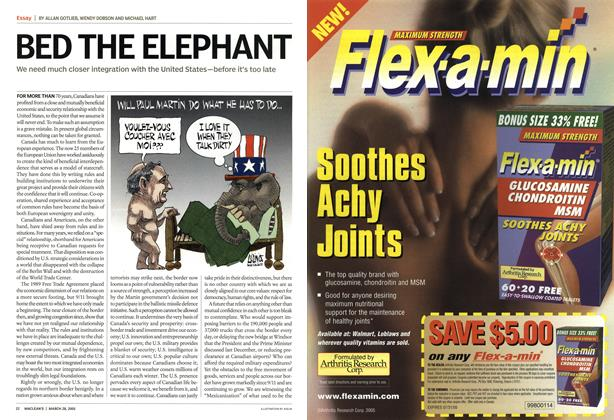 Article Preview: BED THE ELEPHANT, March 28th 2005 | Maclean's