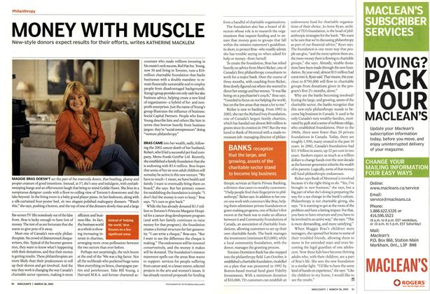 Article Preview: MONEY WITH MUSCLE, March 28th 2005 | Maclean's
