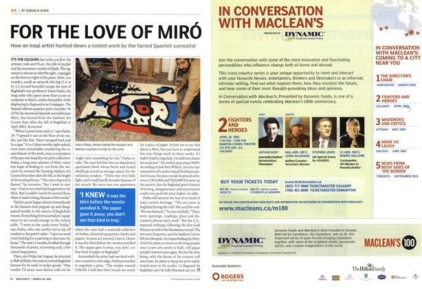 Article Preview: FOR THE LOVE OF MIRÓ, March 28th 2005 | Maclean's