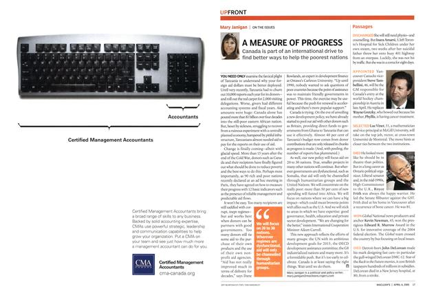 Article Preview: A MEASURE OF PROGRESS, April 4th 2005   Maclean's