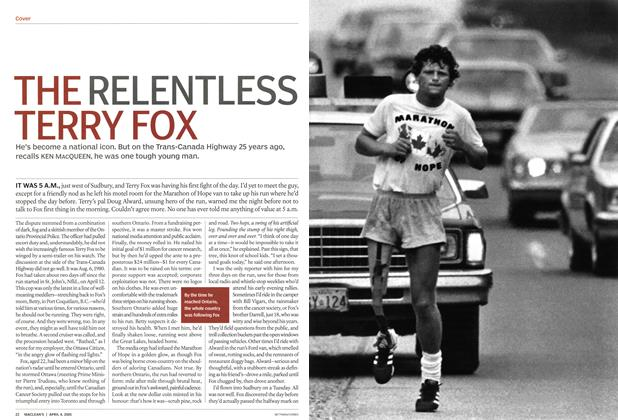 Article Preview: THE RELENTLESS TERRY FOX, April 4th 2005 | Maclean's
