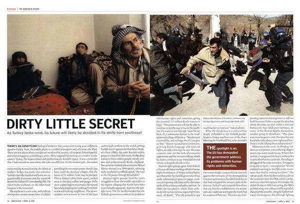 Article Preview: DIRTY LITTLE SECRET, April 4th 2005 | Maclean's