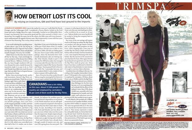 Article Preview: HOW DETROIT LOST ITS COOL, April 4th 2005 | Maclean's