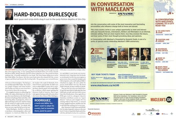 Article Preview: HARD-BOILED BURLESQUE, April 2005 | Maclean's