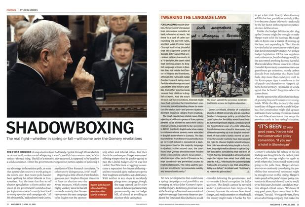 Article Preview: SHADOWBOXING, April 11th 2005 | Maclean's