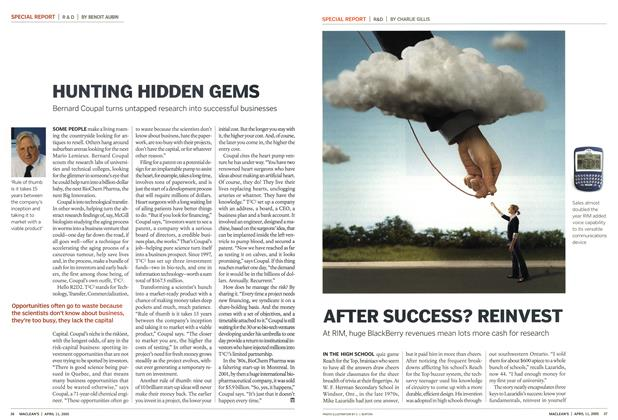 Article Preview: AFTER SUCCESS? REINVEST, April 11th 2005 | Maclean's