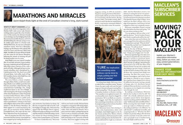 Article Preview: MARATHONS AND MIRACLES, April 11th 2005 | Maclean's