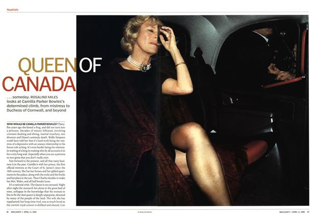 Article Preview: QUEEN OF CANADA, April 11th 2005 | Maclean's
