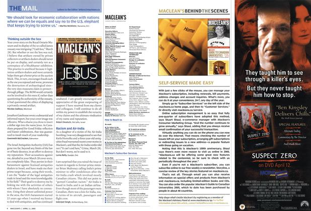 Article Preview: THE MAIL, April 11th 2005 | Maclean's