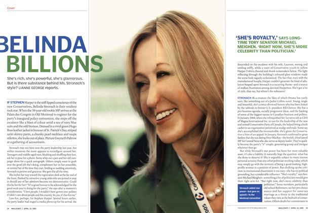 Article Preview: BELINDA BILLIONS, April 18th 2005 | Maclean's