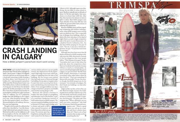 Article Preview: CRASH LANDING IN CALGARY, April 18th 2005 | Maclean's