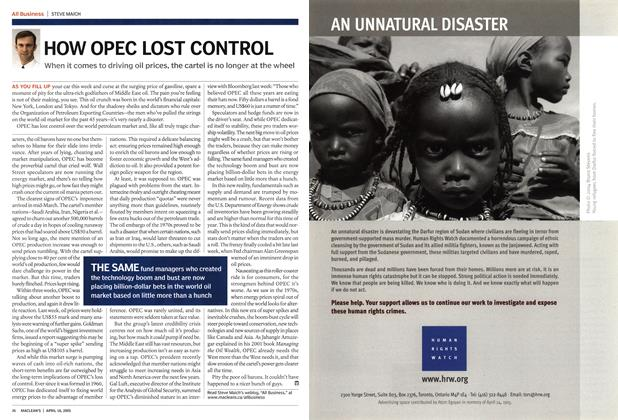 Article Preview: HOW OPEC LOST CONTROL, April 18th 2005 | Maclean's