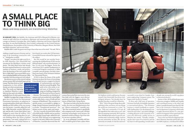 Article Preview: A SMALL PLACE TO THINK BIG, April 18th 2005 | Maclean's