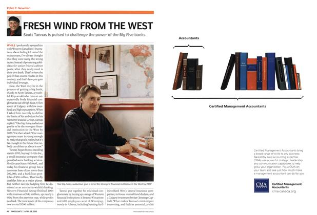 Article Preview: FRESH WIND FROM THE WEST, April 18th 2005 | Maclean's