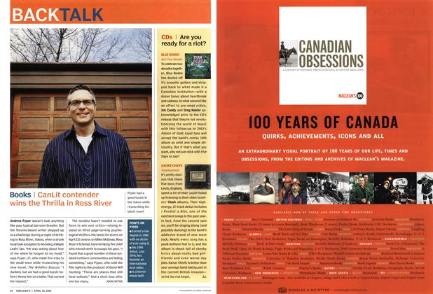 Article Preview: Books, April 18th 2005 | Maclean's
