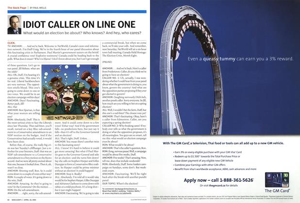 Article Preview: IDIOT CALLER ON LINE ONE, April 2005 | Maclean's
