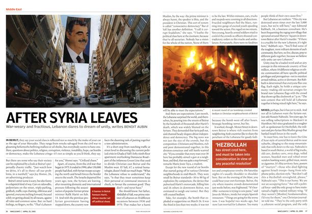 Article Preview: AFTER SYRIA LEAVES, April 25th 2005 | Maclean's