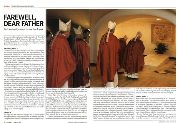Article Preview: FAREWELL, DEAR FATHER, April 25th 2005 | Maclean's