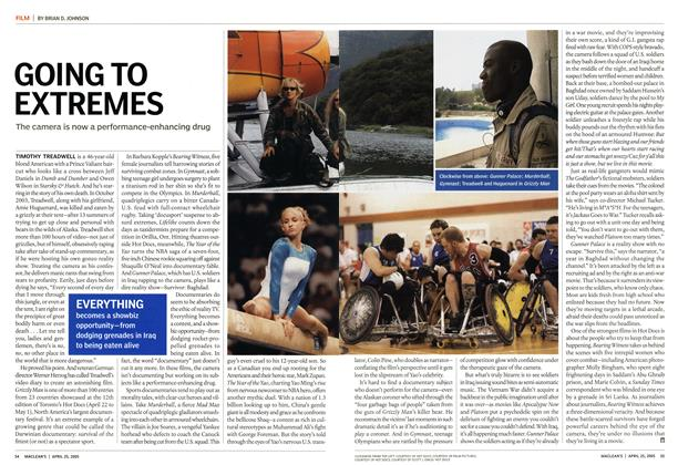 Article Preview: GOING TO EXTREMES, April 25th 2005 | Maclean's
