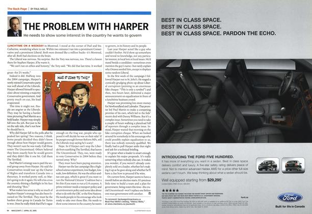 Article Preview: THE PROBLEM WITH HARPER, April 25th 2005 | Maclean's