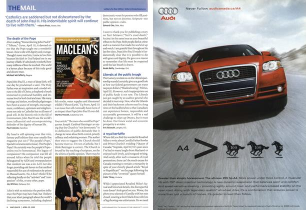 Article Preview: THEMAIL, April 25th 2005 | Maclean's