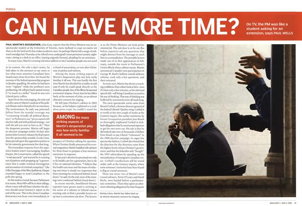 Article Preview: CAN I HAVE MORE TIME?, May 2nd 2005 | Maclean's