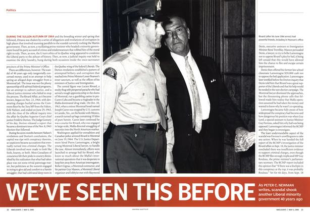 Article Preview: WE'VE SEEN THIS BEFORE, May 2nd 2005 | Maclean's