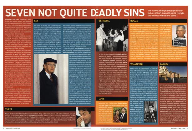 Article Preview: SEVEN NOT QUITE DEADLY SINE, May 2nd 2005 | Maclean's