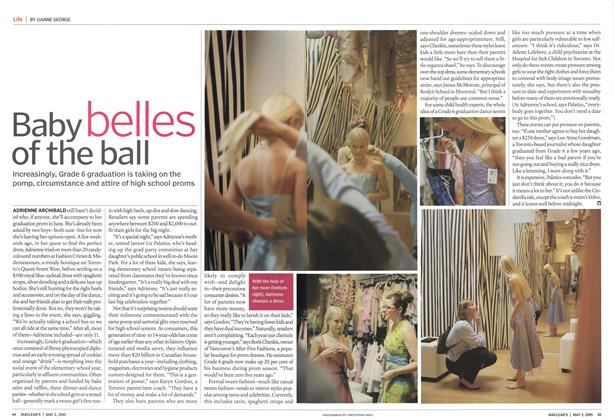 Article Preview: Baby belles of the ball, May 2nd 2005 | Maclean's